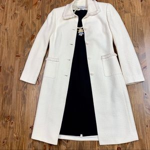 Tahari Ivory Off White Coat Petite 4